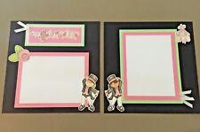 Tiny Dancer 12x12 Dance Scrapbook Pre-made Handmade Pages - Set of 2
