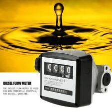 FM-120 4 Digital Diesel Gasoline Fuel Petrol Oil Flow Meter Counter Gauge US