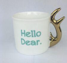 Hello Dear Coffee Mug 11oz Women's Gift Girlfriend Tea Cup Office Decor Deer