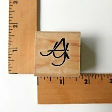 "Stamp Cabana Rubber Stamp Initials  ""AY"" - NEW"