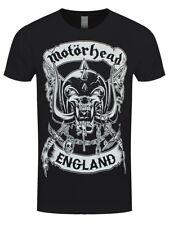 Motorhead T-shirt Crosses Sword England Crest Men's Black