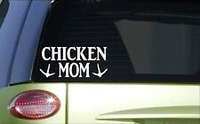 Chicken Mom *H801* 8 inch Sticker decal eggs incubator feeder waterer laying box