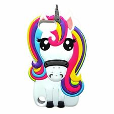 Rainbow Unicorn Horse 3D Cute Silicone case cover for Apple iPod Touch 5th & 6th