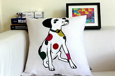 Vintage KAS Colorful Puppy Stitch Embroidered Decor Cotton CUSHION COVER 18""