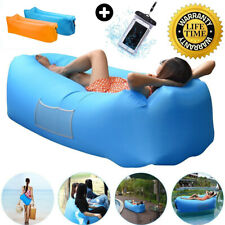 Outdoor Inflatable Lounger Couch Thick Durable Air Sofa Blow Up Lounge Pool Beac