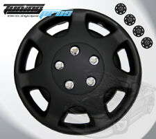 "Matte Black Style 107 14 Inches Hubcap Wheel Cover Rim Skin Covers 14"" Inch 4pcs"
