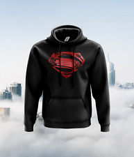 Superman Chest Logo Hoodie- Superheroes Fun Present Gift Christmas Comics Movies