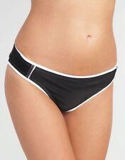 Seafolly Cyber Surfer Mini Hipster Bikini Brief Classic Black White UK 8