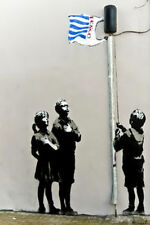 Banksy CHILDREN WITH TESCO FLAG  poster  59.4cmX42CM   A2