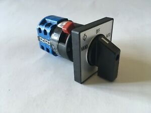 KRAUS AND NAIMER CHANGEOVER SWITCH HAND, OFF AUTO 20A DOUBLE POLE, New & unboxed
