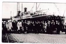 SELTEN Foto AK Passagiere am Pier vor Luxusdampfer@Bremerhaven@40er Jahre