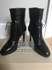 VALUE [New]Burberry Brogue Manner Platform Ankle Boot size US 8.5