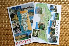 LOTS of  2 MAP Postcards : PORTUGAL & ALGARVE Province