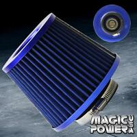 """3"""" Universal  BLUE INLET HIGH FLOW SHORT RAM/COLD INTAKE ROUND CONE AIR FILTER"""