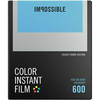 Impossible PRD4527 Color Glossy Instant Film with Silver Frame for Polaroid 600
