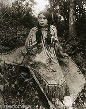 Native American Chippewa Ojibwa Princess Beads Leather Woven Rug Michigan GREAT