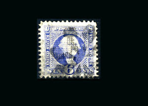 US Stamp Used, XF S#115  HUGE margins, fancy cancel, good grill