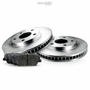 Rear Blank Brake Rotors and Pads For 2013-2014 Mercedes-Benz C300,C350,E350