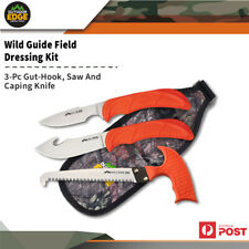 Outdoor Edge Wildguide 3pc Field Dressing Kit Saw/ Guthook/ Caping Knife OEWG10C