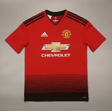 NWOT Manchester United Home 2018 2019 Football Soccer Shirt Adidas Youth Size L