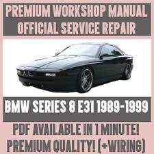 * atelier manual Service & Repair Guide pour BMW Série 8 E31 1989-1999 + faisceau de câblage