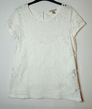 WHITE LACE 2 IN 1 LADIES FORMAL PARTY TOP BLOUSE SIZE 10 BANANA REPUBLIC FLORAL
