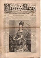 1876 Harper's Bazar February 26 - Insertion collars and cuffs; Misses wrappings