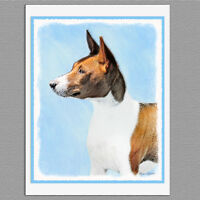 6 Basenji Dog Blank Art Note Greeting Cards