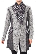 Joseph Ribkoff Grey/Black Textured Long Sleeved Jacket Size 8 (UK10) New 174812