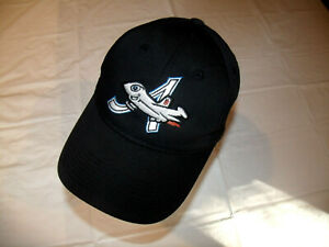 Aberdeen Ironbirds MiLB Black Hat Airplane Logo OC Sports YOUTH Adjustable EXC