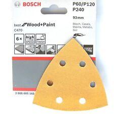 Bosch Delta Feuilles abrasives bois peinture PMF180E PMF190 250 GOP10.8V GOP 250 GOP300