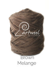 Brown Melange -100% Merino Wool Giant Super Chunky Extreme Yarn Arm Knitting 1kg