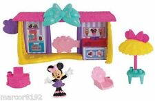 Fisher- Price Disney's Minnie Mouse Bowtique Snack Shack 7 Pieces Playset New