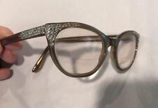 31f665319b Vintage Safilo Rhinestone Cateye Glasses Italy Mona Lisa 5 3 4