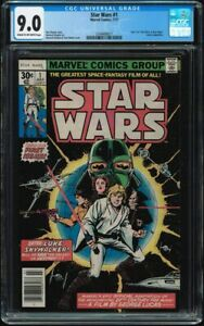 Star Wars #1 CGC 9.0 Cream to Off-White 1977 Marvel