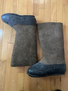 Russian Original Valenki Felt Boots 100% Wool Winter Snow Walenki Sz. 9.5