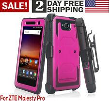 Phone Case ZTE Majesty Pro / Pro Plus Heavy Duty Belt Clip Holster Rugged Purple