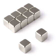 10pcs Block 5x5x5mm Cube Strong Neodymium Rare Earth Magnets 1.1Kg Pull Magnetic