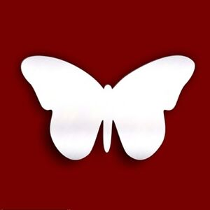Pack of 10 Butterfly Craft Scrapbook Card Embellishment Wedding Acrylic Mirror