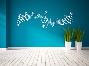 Musical Music Notes Lyrics Song Decal Wall Sticker Art Various Colours and Sizes