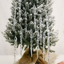12Pcs Christmas Tree Icicle Hanging Ornaments Home Xmas Party DIY Decoration New