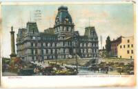 Montreal Quebec City Hall & Jacques Cartier Market 1907 Antique Postcard 26422