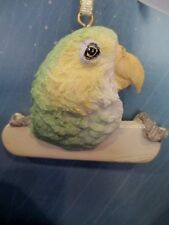 AMAZON  GREY PARROT   ~   ORNAMENT  #  2204