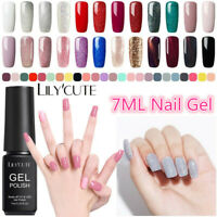 LILYCUTE 7ML UV Gel Nail Polish Soak Off Holographic Glitter Nail Gel Top Coat