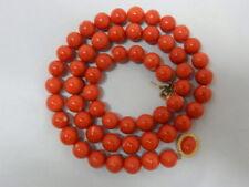 Echtschmuck-Halsketten aus Gelbgold Korallen