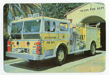1987 Portugese Pocket Calendar Tucson Fire Department Dept Fire Engine