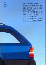 Mercedes-Benz W124 Estates sales brochure 1986 German market
