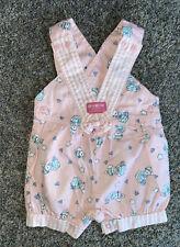 Vintage RARE Baby Osh Kosh Pink Overalls With Bunnies Girls Size24 Months