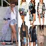 Sexy Women Kimono Cardigan Jacket Chiffon Long Loose Blouse Tops Beach Cover Up