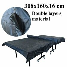 Table Tennis Table Cover Weatherproof for Upright Flat Position UV Resistance